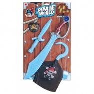 Pirátská sada GID, meč, dýka, hák a oko
