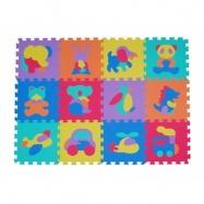 Pěnové puzzle zvířátka a dopravní prostředky 9 ks