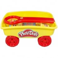 Play Doh vozíček s modelínou a voskovkami