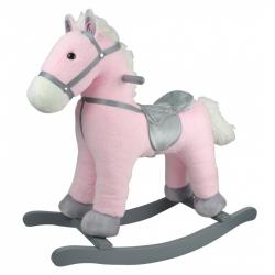 Hojdací koník ružový 46 cm
