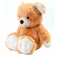 Plyšový medvěd sedící béžový 65 cm