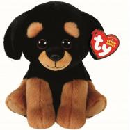 Beanie Boos plyšový pejsek černo/hnědý 15 cm