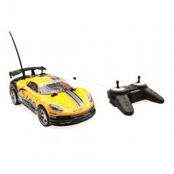 RC car 1:18 racer żółty