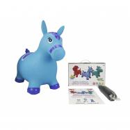 Zvířátko skákací - modrý koník