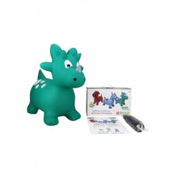 Zvířátko skákací - zelený dinosaurus