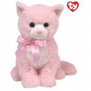 Beanie Boos plyšová kočička sedící růžová 24 cm
