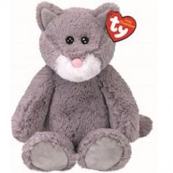 Beanie Boos plyšová kočička sedící šedá 33 cm