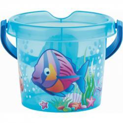 Androni Kýblik rybičky priehľadný - priemer 13 cm, modrý