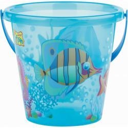 Androni Kyblík rybičky průhledný - průměr 17 cm, modrý
