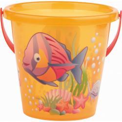 Androni Kyblík rybičky průhledný - průměr 17 cm, oranžový