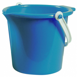 Androni Kyblík s výlevkou - průměr 18 cm, modrý