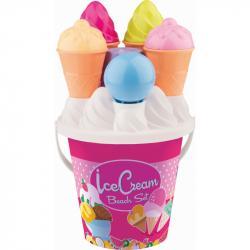 Androni Sada na písek se zmrzlinou - střední, růžová