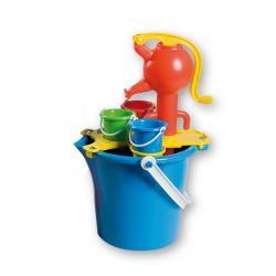 Androni Súprava na piesok s pumpou, veľká – modrá