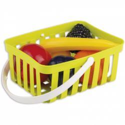 Androni Nákupný košík s ovocím - 6 kusov, zelený
