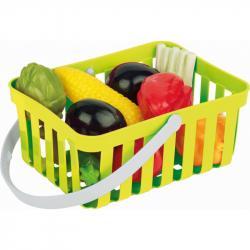 Androni Nákupní košík se zeleninou - 10 kusů, zelený