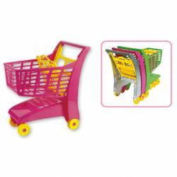 Androni Nákupný vozík so sedadlom - ružový