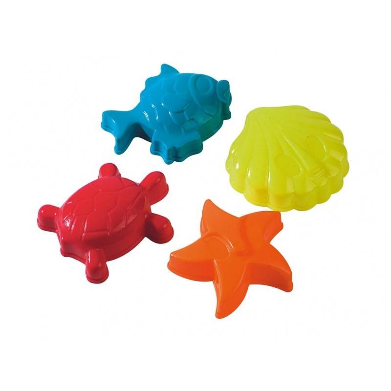 Bábovičky 12 cm mořská zvířátka - 4 ks