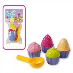 Zabawki do piaskownicy-zestaw Babeczki