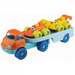Androni Veselá autíčka na návěsu - závodní auta, délka 53 cm
