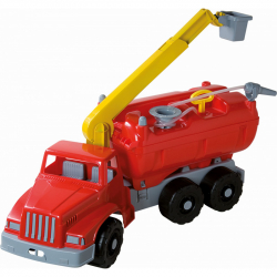 Wóz strażacki Androni Giant Trucks z platformą i funkcjonalną strzykawką - długość 74 cm