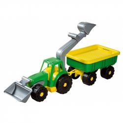 Androni Traktorový nakladač s vlekem Power Worker - délka 58 cm, zelený