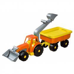 Androni Traktorový nakladač s vlekem Power Worker - délka 58 cm, oranžový