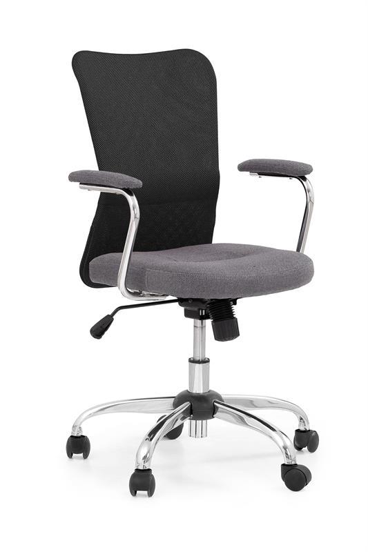 Detská otočná stolička ANDY šedo-čierna