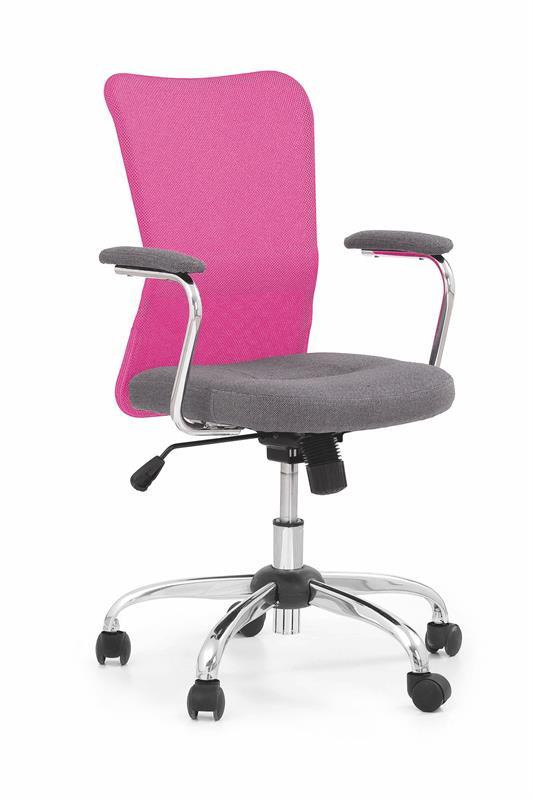 Halmar Krzesło do biurka Andy różowo - szare