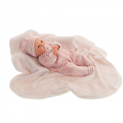 Antonio Juan 14155 BIMBA - mrkací panenka miminko se zvuky a měkkým látkovým tělem - 37 cm