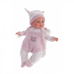 Antonio Juan 14156 BIMBA - mrkací panenka miminko se zvuky a měkkým látkovým tělem - 37 cm
