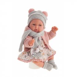 Antonio Juan 17194 PEKE - realistická panenka miminko se speciální pohybovou funkcí a měkkým látkovým tělem - 29 cm