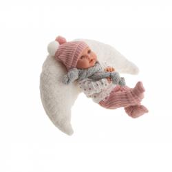 Antonio Juan 11114 KIKA - realistická panenka se zvuky a měkkým látkovým tělem - 27 cm