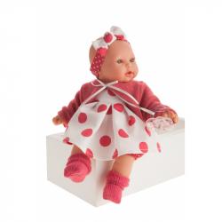 Antonio Juan 1117 KIKA - realistická panenka se zvuky a měkkým látkovým tělem - 27 cm