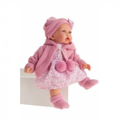 Antonio Juan 1222 PETIT - realistická panenka se zvuky a měkkým látkovým tělem - 27 cm