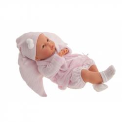 Antonio Juan 14049 BIMBA - mrkací panenka miminko se zvuky a měkkým látkovým tělem - 37 cm