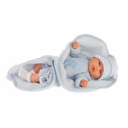 Antonio Juan 1451 BIMBO - mrkací panenka miminko se zvuky a měkkým látkovým tělem - 37 cm