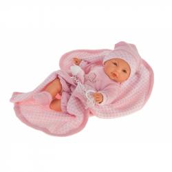 Antonio Juan 1452 BIMBA - mrkací panenka miminko se zvuky a měkkým látkovým tělem - 37 cm