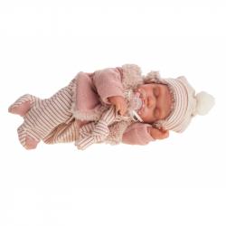 Antonio Juan 1787 LUNI - spící realistická panenka miminko se speciální pohybovou funkcí a měkkým látkovým tělem - 29 cm