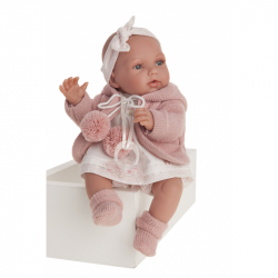Antonio Juan 1791 PEKE - realistická panenka miminko se speciální pohybovou funkcí a měkkým látkovým tělem - 29 cm