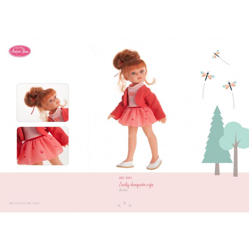 Antonio Juan 2591 EMILY - realistická panenka s celovinylovým tělem - 33 cm