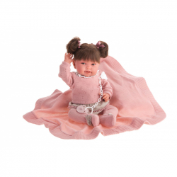 Antonio Juan 33114 PIPA HAIR - realistická panenka miminko s měkkým látkovým tělem - 40 cm