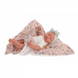 Antonio Juan 33121 LUNA - spící realistická panenka miminko s měkkým látkovým tělem - 40 cm