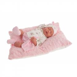 Antonio Juan 3348 LUNA - spící realistická panenka miminko s měkkým látkovým tělem - 40 cm