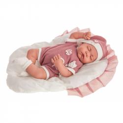 Antonio Juan 3380 LUNA - spící realistická panenka miminko s měkkým látkovým tělem - 40 cm