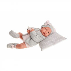 Antonio Juan 3386 NACIDA - realistická panenka miminko s měkkým látkovým tělem - 40 cm