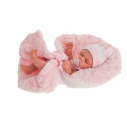 Antonio Juan 4074 LUNI - spící realistická panenka miminko s celovinylovým tělem - 26 cm