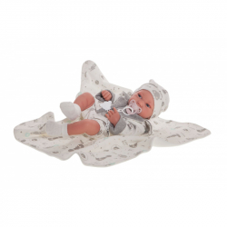 Antonio Juan 50083 PIPO - realistická panenka miminko s celovinylovým tělem - 42 cm