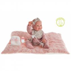 Antonio Juan 50162  MIA - mrkací a čůrající realistická panenka miminko s celovinylovým tělem - 42 cm