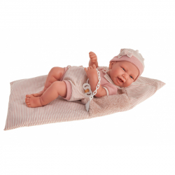 Antonio Juan 5081 CARLA - realistická panenka miminko s celovinylovým tělem - 42 cm