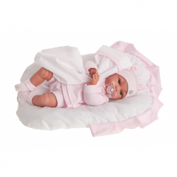 Antonio Juan 7038 Tonet - realistická bábika bábätko sa zvuky a mäkkým látkovým telom - 34 cm